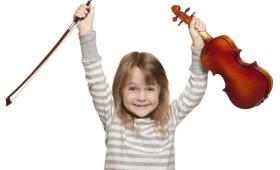 Hoe een kind viool blijft spelen